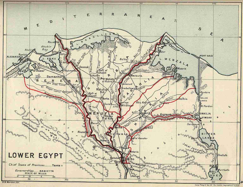 Old Maps Od Egypt Sudan - Map of egypt delta