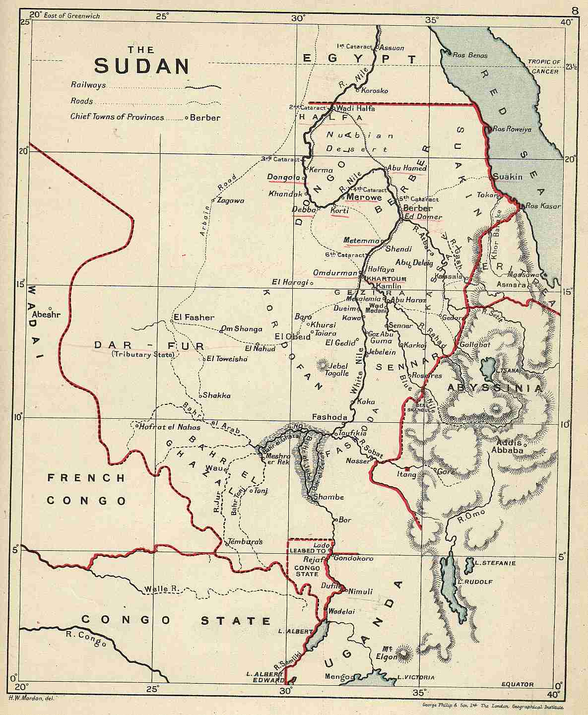 Old Maps Od Egypt Sudan - Map od